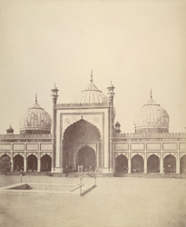 The Jumma Musjid, Delhi, Centre.